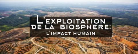L'exploitation de la biosphère : l'impact humain